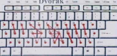 finger movement typists strive for on both dvorak and qwerty keyboards